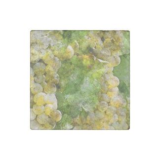 Chardonnay Grapes on the Vine Stone Magnet