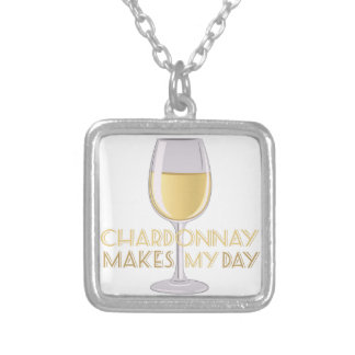Chardonnay Silver Plated Necklace