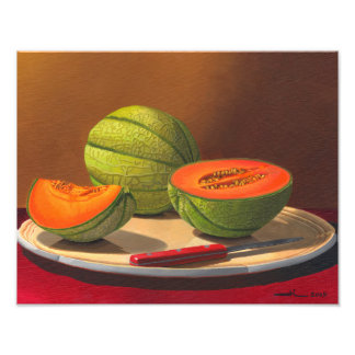 Charentais melons photo print