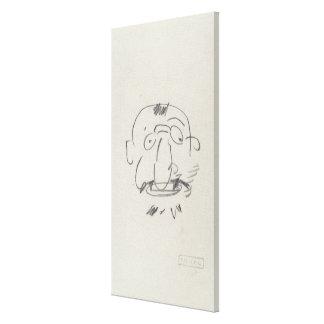 Charge de Lautrec par Lui-Meme (pencil on paper) Gallery Wrapped Canvas