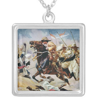 Charge of the 21st Lancers at Omdurman Silver Plated Necklace
