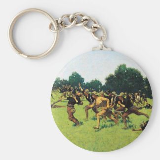 Charge of the Rough Riders at San Juan Hill Basic Round Button Key Ring