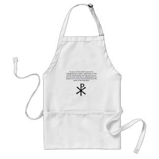 Charge to Christians Standard Apron