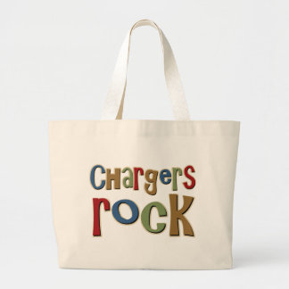 Chargers Rock Tote Bags