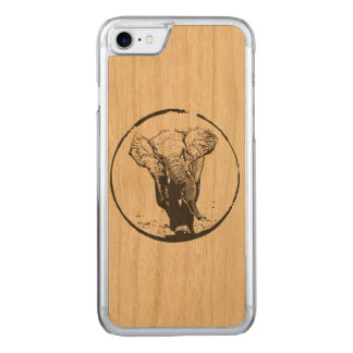 Charging Elephant by EKLEKTIX Carved iPhone 7 Case