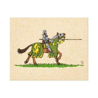 Charging Knight Canvas Print