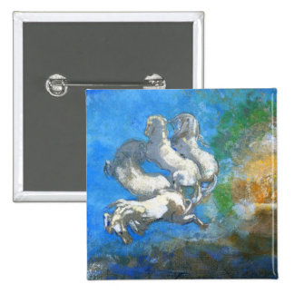 Chariot of Apollo by Symbolist Odilon Redon Pinback Buttons