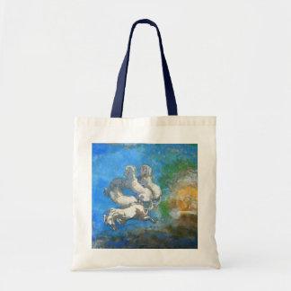 Chariot of Apollo: by Symbolist Odilon Redon Budget Tote Bag