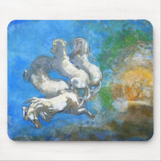 Chariot of Apollo: by Symbolist Odilon Redon Mouse Pads