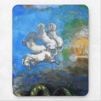Chariot of Apollo: by Symbolist Odilon Redon Mousepad