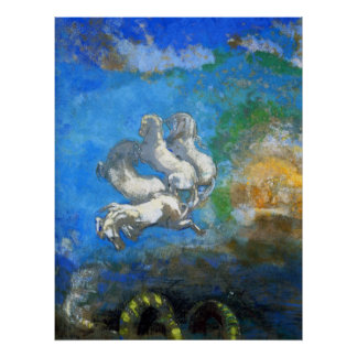 Chariot of Apollo - by Symbolist Odilon Redon Poster