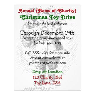 Charity Annual Christmas Toy Drive Santa Claus 21.5 Cm X 28 Cm Flyer