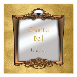 Charity Ball Gold Invitation