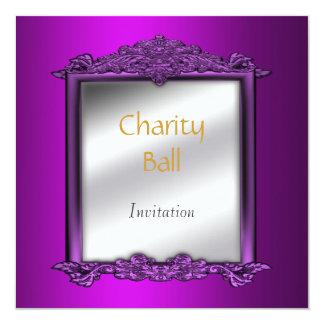 Charity Ball Mauve Invitation