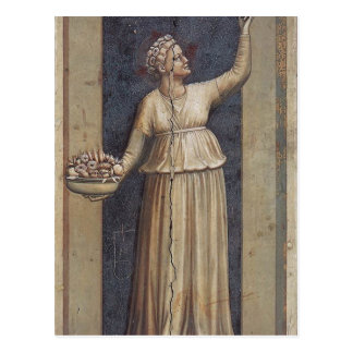 Charity by Giotto Postcard