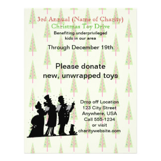 Charity Christmas Annual Christmas Toy Drive 21.5 Cm X 28 Cm Flyer