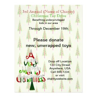 Charity Christmas Trees Annual Christmas Toy Drive 21.5 Cm X 28 Cm Flyer