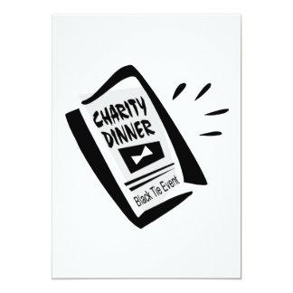 Charity Dinner 13 Cm X 18 Cm Invitation Card