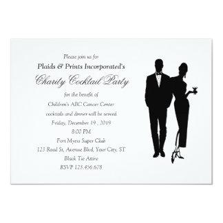 Charity Dinner Black Tie Event 11 Cm X 16 Cm Invitation Card