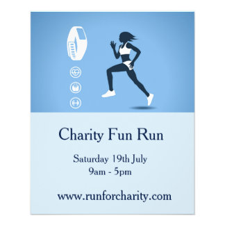 Charity fun run marathon flyer