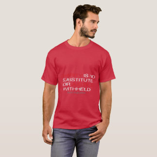 Charity Is No Substitute dark t-shirt