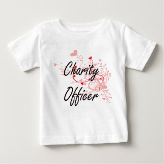 Charity Officer Artistic Job Design with Hearts Tee Shirts