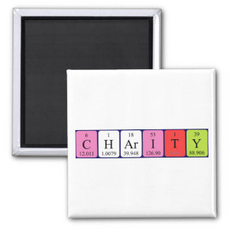 Charity periodic table name magnet