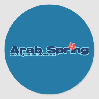 Charity project: Syria Revolution Arab Spring Classic Round Sticker