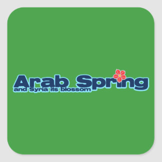 Charity project: Syria Revolution Arab Spring Square Sticker