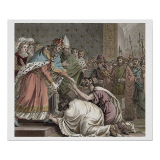 Charlemagne (742-814) Receives the Ambassadors fro Poster