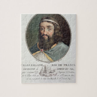 Charlemagne (747-814), King of France, engraved by Jigsaw Puzzle