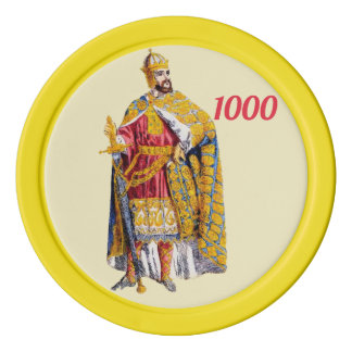 ~ Charlemagne, Emperor of the Franks ~ 800 AD ~ Poker Chips