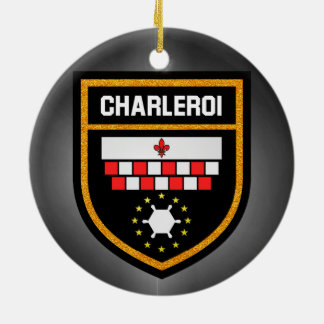 Charleroi Flag Ceramic Ornament