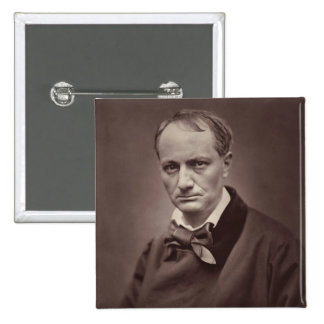 Charles Baudelaire 15 Cm Square Badge