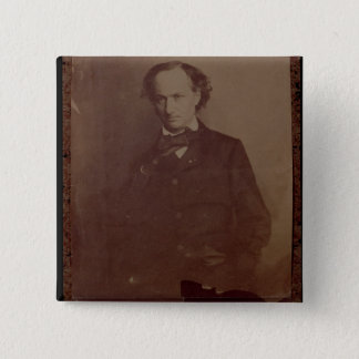 Charles Baudelaire (1820-1867), French poet, portr 15 Cm Square Badge