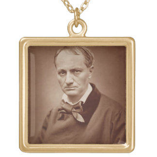 Charles Baudelaire (1821-67), French poet, portrai Gold Plated Necklace