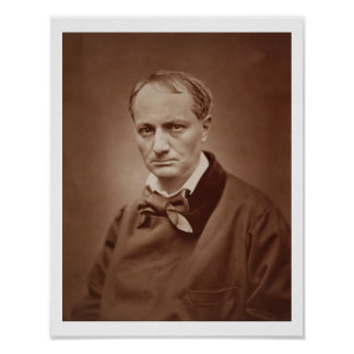Charles Baudelaire (1821-67), French poet, portrai Poster