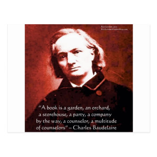 "Charles Baudelaire ""A Book Is"" Wisdom Quote Gifts Postcard"