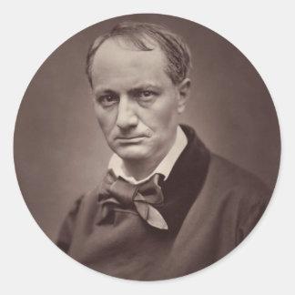 Charles Baudelaire Round Sticker