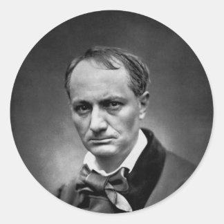 Charles Baudelaire - Vintage Photo 1878 Round Sticker