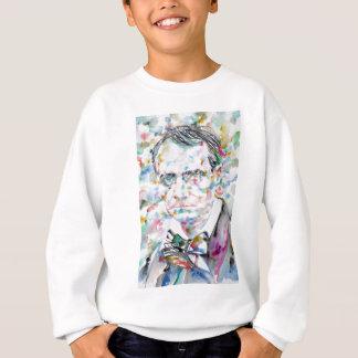 CHARLES BAUDELAIRE - watercolor portrait.2 Sweatshirt