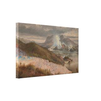 Charles Blomfield - Pink Terraces Canvas Print