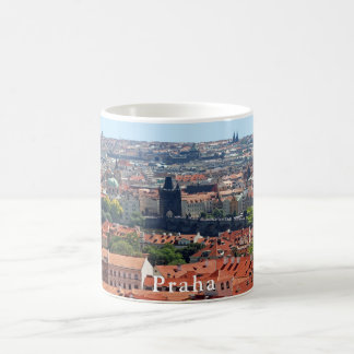 Charles Bridge and Tiled Roofs Coffee Mug