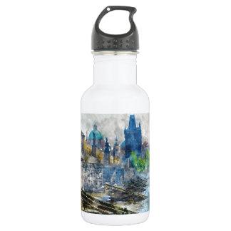 Charles Bridge in Prague Czech Republic 532 Ml Water Bottle