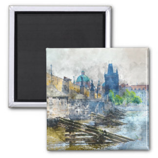 Charles Bridge in Prague Czech Republic Magnet