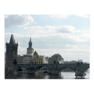 Charles Bridge Prague Czech Republic Postcard