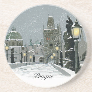 Charles Bridge Winter coaster