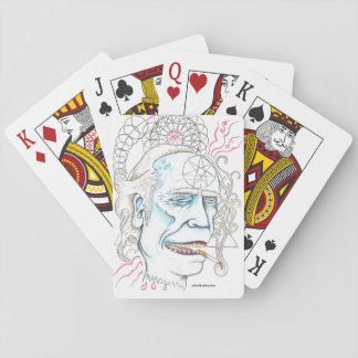Charles Bukowski Playing CArds
