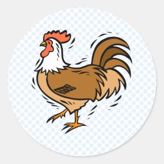 Charles Chicken Round Sticker