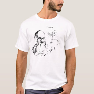 Charles Darwin and his Tree of Life sketch T-Shirt
